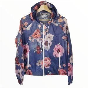 American Eagle XS Rain Jacket Wind Breaker Floral